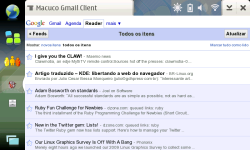 Google Reader on Macuco